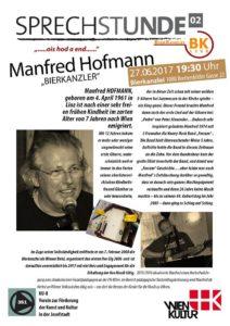 """Sprechstunde"" mit Manfred Hofmann ""Ois hod a End"" @ Bierkanzlei"